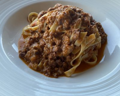 Fettuccine With homemade Ragu Sauce