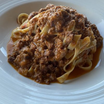 Fettuccine With homemade Ragu Sauce